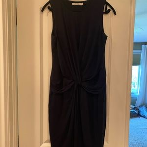 Bailey 44 twist front sleeveless dress navy M